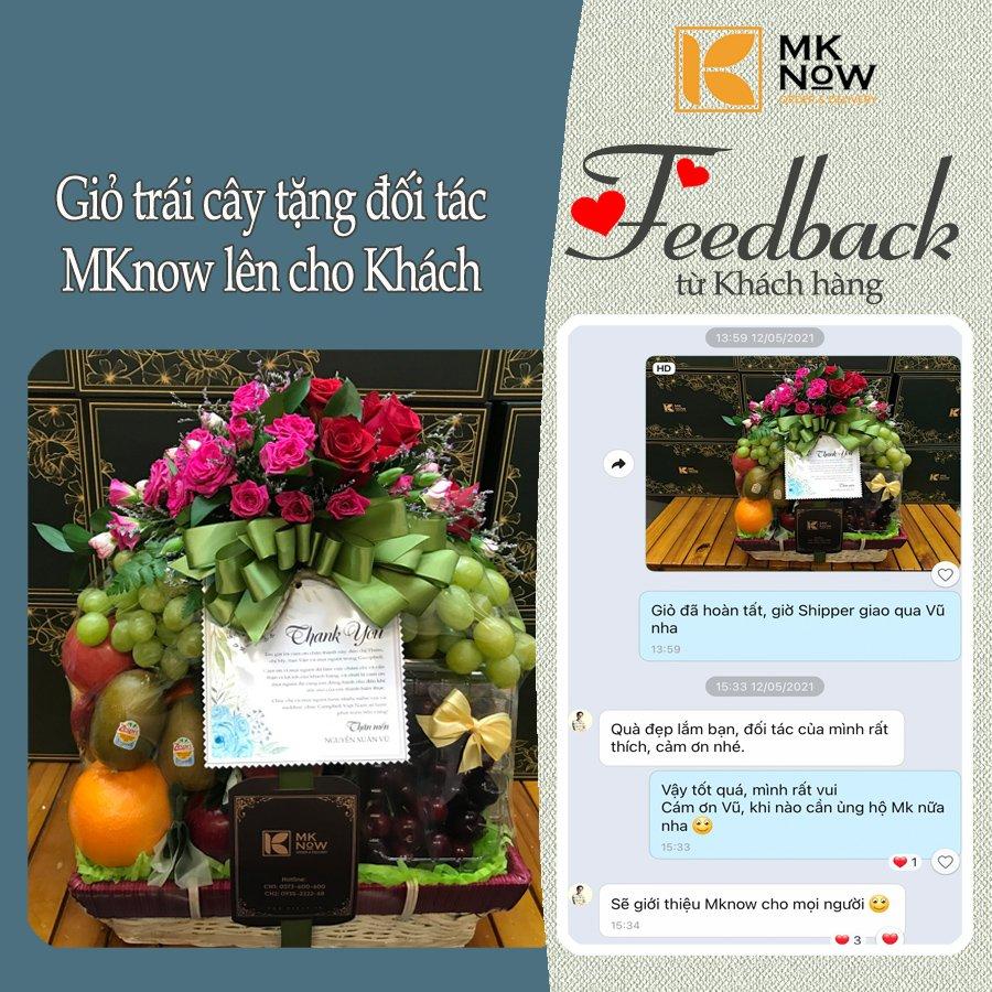Feedback MKnow 01: Giỏ trái cây tặng đối tác