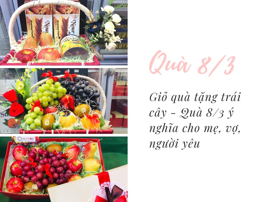 Giỏ quà tặng trái cây - Quà 8/3 ý nghĩa cho mẹ, vợ, người yêu