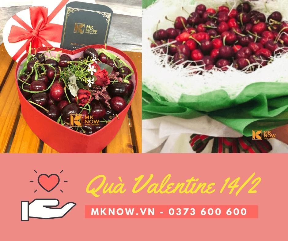 Bó hoa Cherry, hộp quà Cherry trái cây từ MKnow - Món quà Valentine 14/2 lễ tình nhân