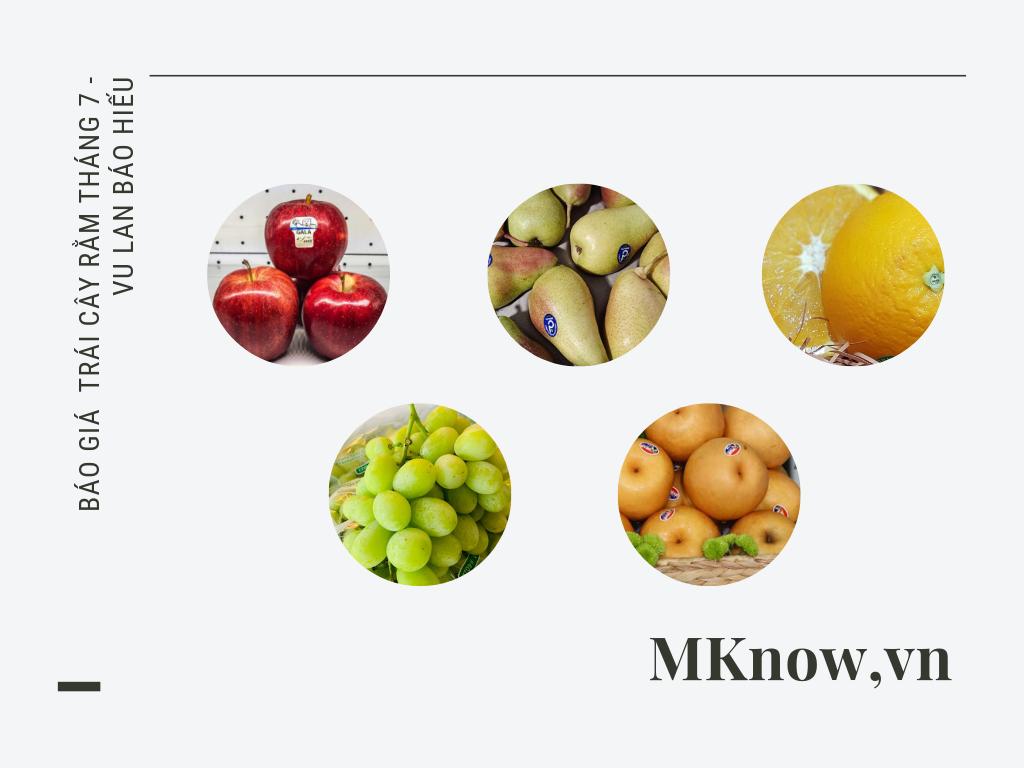 Báo giá hoa quả, trái cây Rằm tháng 7 - Vu Lan báo hiếu