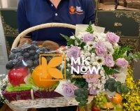 Giỏ quà tặng trái cây hoa tươi - FSNK204