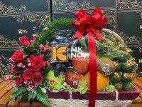 Giỏ trái cây trầu cau đi hỏi cưới - FSNK208
