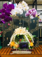 Giỏ trái cây hoa lan hồ điệp viếng đám tang - FSNK159