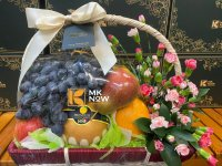 Lẵng trái cây và hoa tươi - FSNK224