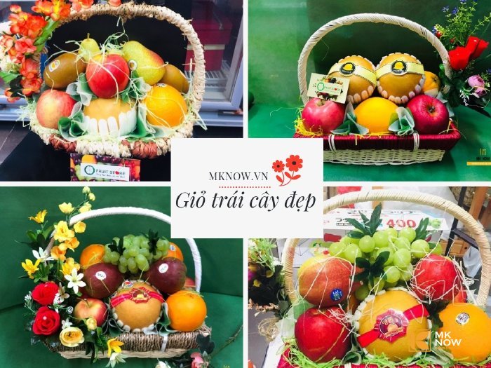 Giỏ trái cây đẹp từ MKnow