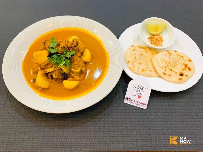 Combo đồ ăn Cà ri gà & Bánh mì Naan Ấn Độ - MK04