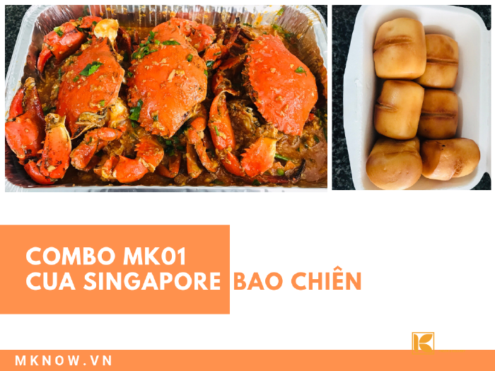 Combo đồ ăn Cua sốt Singapore & bao chiên - MK01