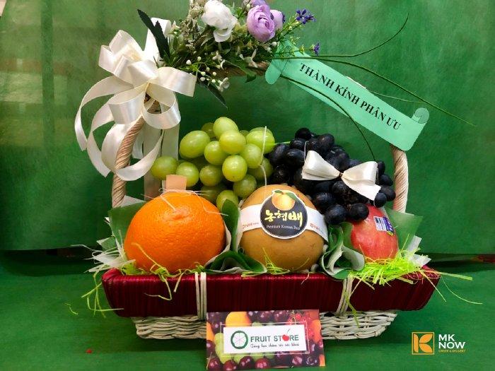 Giỏ trái cây đám tang - FSNK59