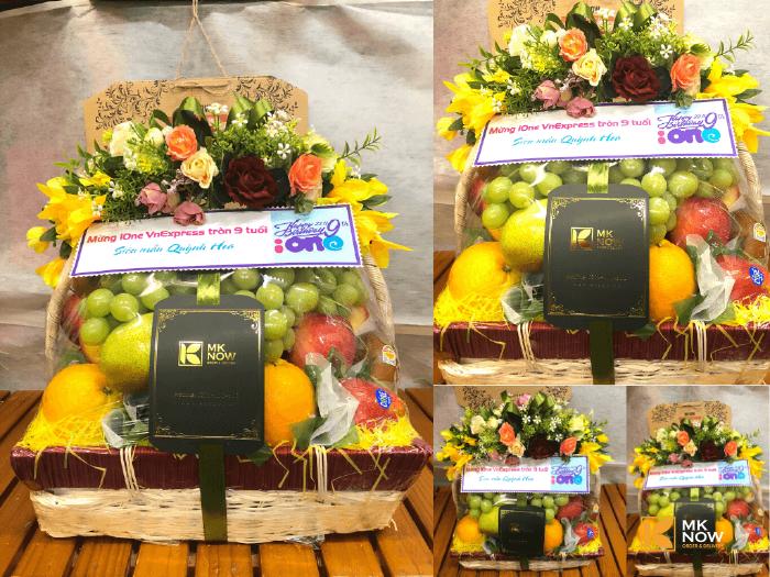 Giỏ trái cây tặng sinh nhật cơ quan - FSNK115