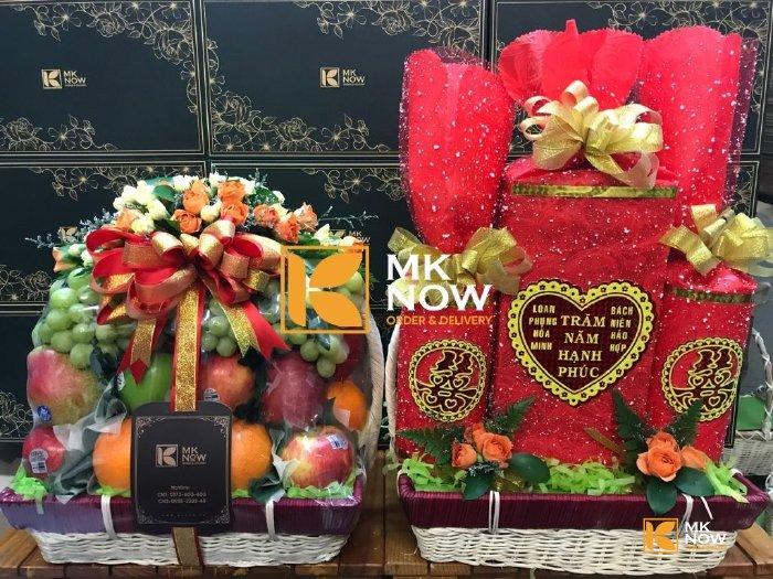 Giỏ trái cây trà bánh dạm ngõ cưới hỏi - FSNK243