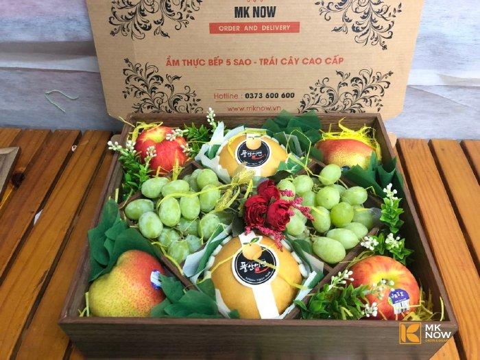 Hộp quà trái cây nắp kính - FSNK104