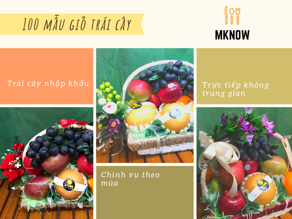 100 mẫu giỏ trái cây đẹp nhất TPHCM - dịch vụ điện giỏ trái cây giao tận nơi từ cửa hàng trái cây nhập khẩu, ẩm thực MKnow
