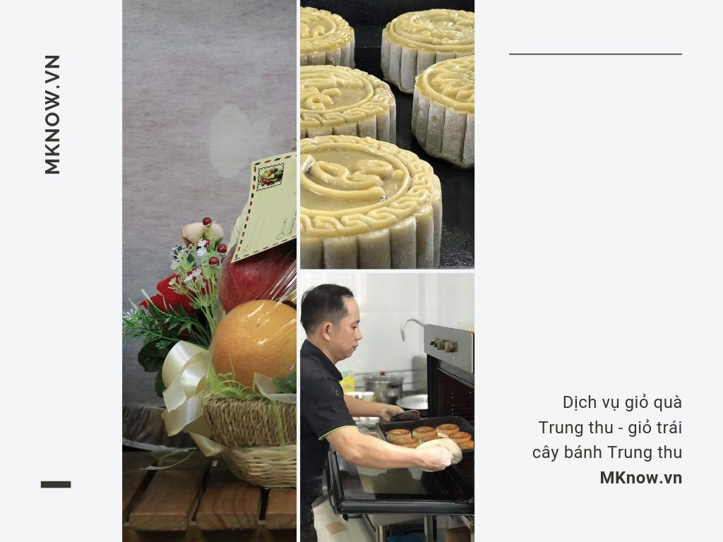 Dịch vụ giỏ quà Trung thu - giỏ trái cây bánh Trung thu MKnow