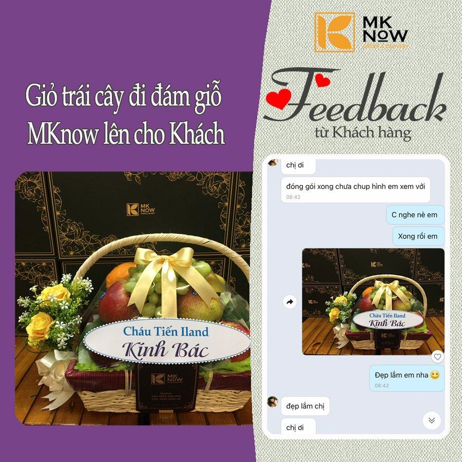 Feedback MKnow 09: Giỏ trái cây đi đám giỗ
