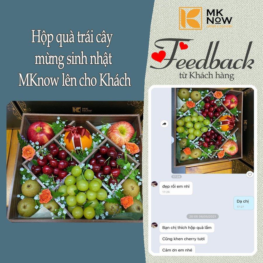 Feedback MKnow 10: Hộp quà trái cây mừng sinh nhật
