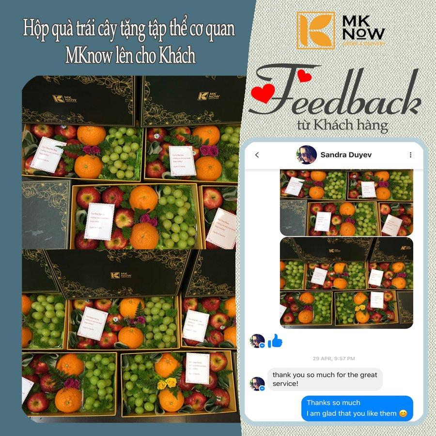 Feedback MKnow 05: Hộp quà trái cây tặng tập thể cơ quan