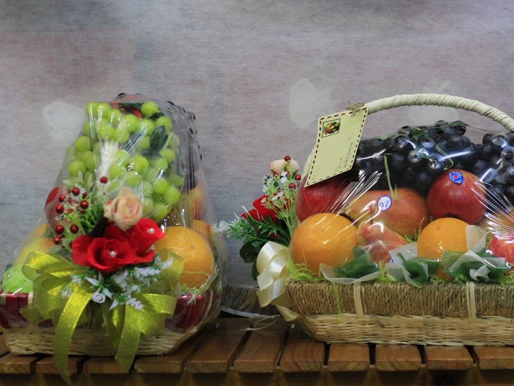 Giỏ trái cây cúng dường Vu Lan báo hiếu - đặt làm giỏ trái cây ngũ quả từ MKnow