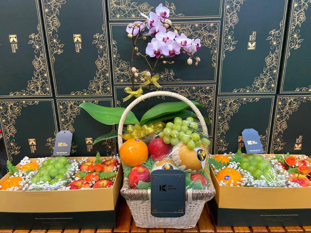 Mknow giỏ trái cây cao cấp - trái cây quà tặng cao cấp TPHCM
