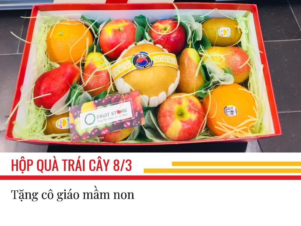 Hộp trái cây làm quà 8/3 cho cô giáo mầm non - đặt mua hộp quà trái cây online