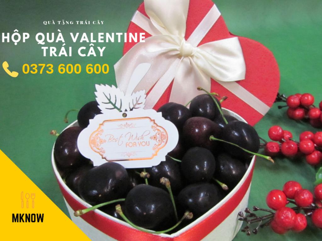 Hộp quà Valentine - Hộp quà trái cây - Cửa hàng quà tặng trái cây MKnow