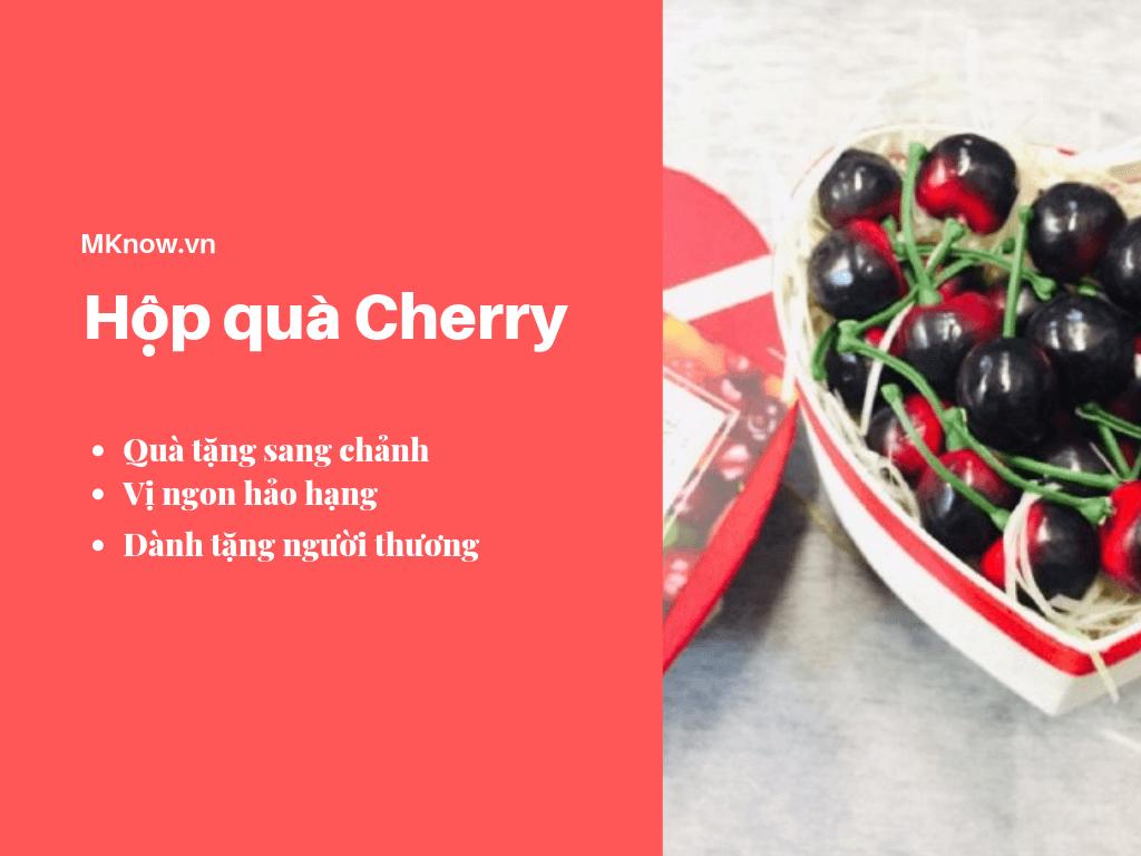 Hộp quà Cherry - Giỏ quà Cherry - Hộp quà trái cây sang chảnh đầy ý nghĩa