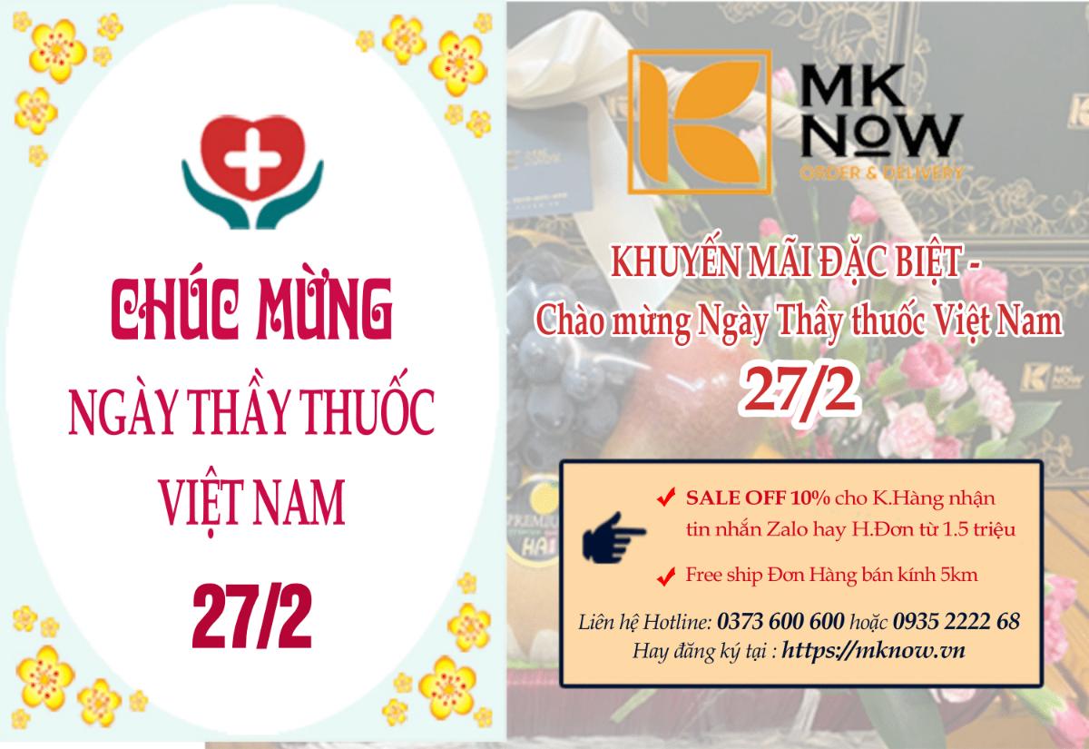 KHUYẾN MÃI ĐẶC BIỆT - Chào mừng ngày Thầy thuốc Việt Nam 27/2 từ MKnow