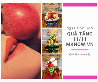 Quà tặng độc thân 11/11 - Hộp quà trái cây, combo đồ ăn giao tận nơi MKnow