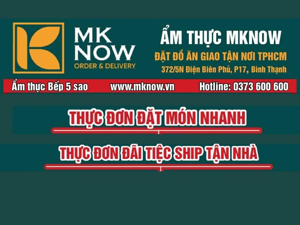 Menu MKnow | 0373 600 600 | Đặt đồ ăn giao tận nơi TPHCM - Ẩm thực bếp 5 sao