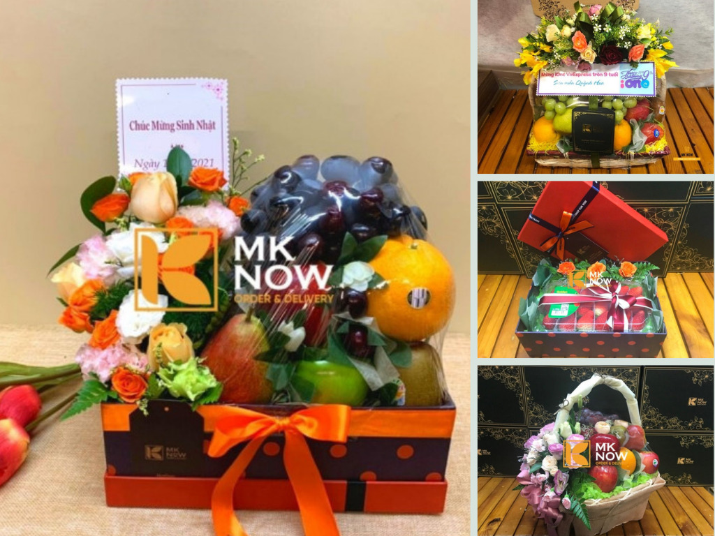Trái cây tặng sinh nhật - Giỏ trái cây, hộp quà hoa tươi tại MKNow