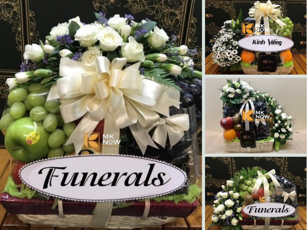 Điện giỏ trái cây viếng đám tang, giao liên quận TPHCM của MKNow