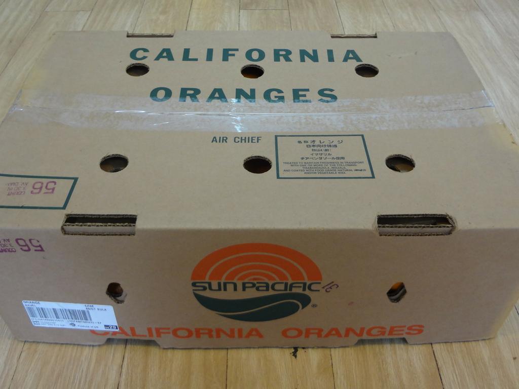 Thùng cam vàng Navel nhập khẩu từ Mỹ