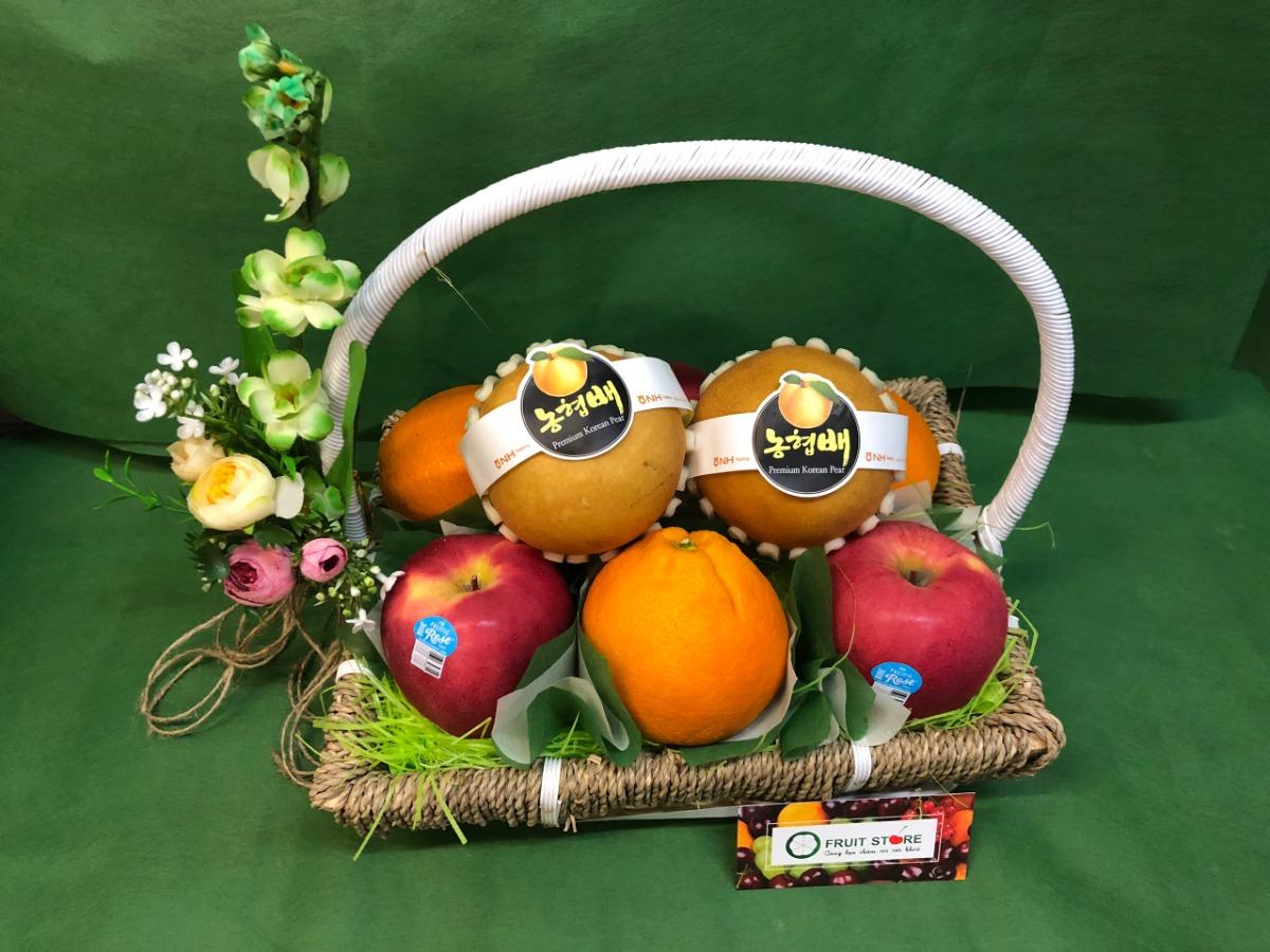 Giỏ trái cây làm quà tặng TPHCM - FSNK54