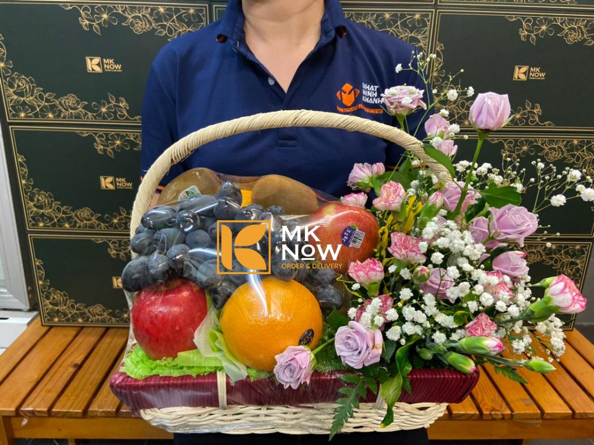 Giỏ trái cây và hoa tươi - FSNK223