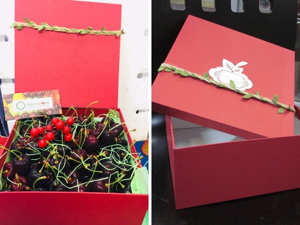 Đặt Hộp quà Cherry lớn hình vuông dành tặng người thương của bạn