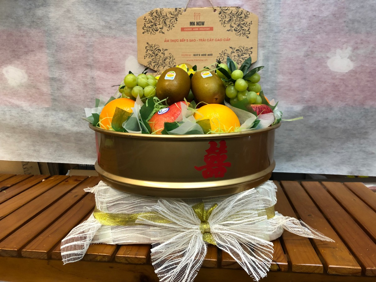 Quả trái cây ăn hỏi - trang trí mâm quả cưới hỏi, tráp hoa quả ăn hỏi cùng MKnow