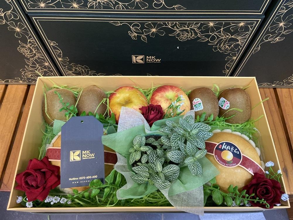 MKNow quà tặng phái đẹp ngày 20/10: quà tặng trái cây mix cây cảnh